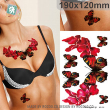 Sexy Beautiful Waterproof Temporary Tattoos For Men And Women 3D Butterfly Design Large Arm Tattoo Sticker MC2742