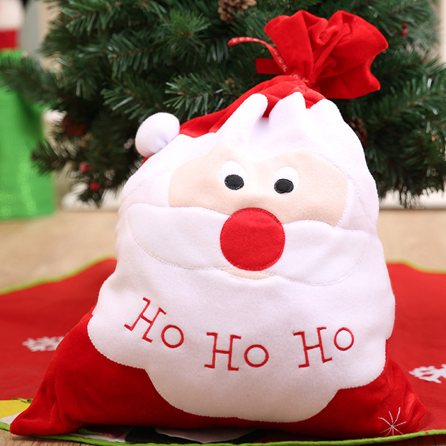 large christmas gift bag embroidery santa claus candy bags new year xmas party decorations kids christmas