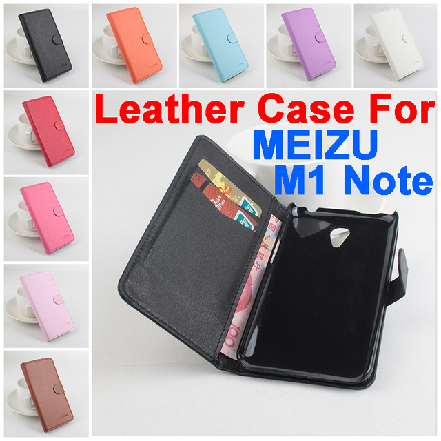 Litchi MEIZU M1 Note case cover, Good Quality New Leather Case + hard Back cover For MEIZU M1 Note Cellphone Case In Stock