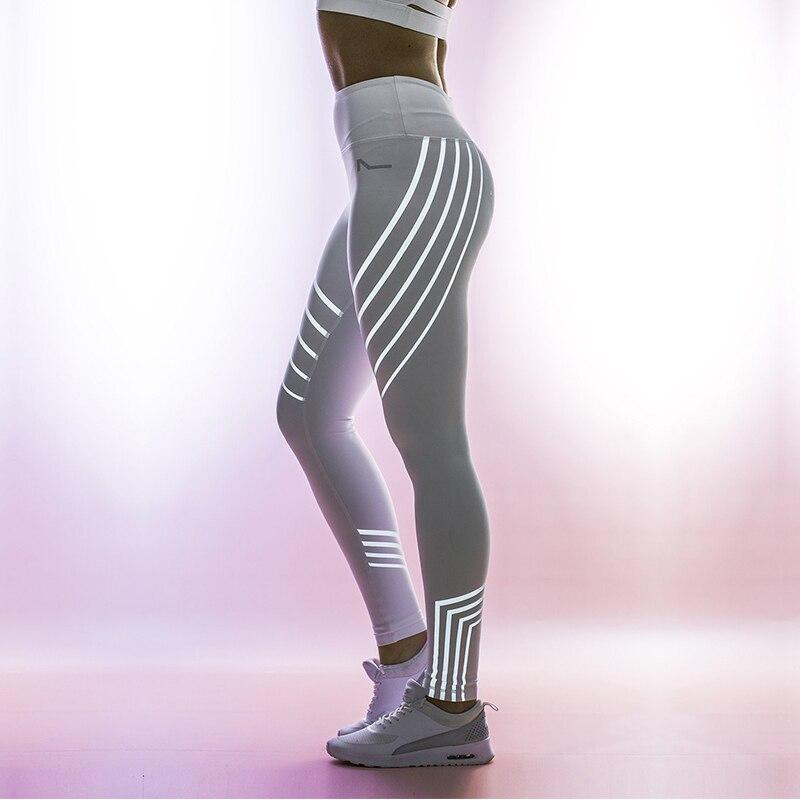 271e20d6be0e2 Yoga Pants Women Night Glowing Energy Seamless Leggings High Waisted Gym  Shark Leggins Sexy Pants Woman Black White