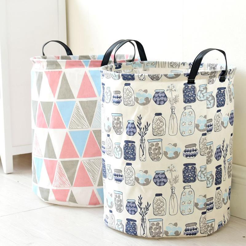 Laundry Basket Toy Storage Box Super Middle Bag Washing Dirty Clothes Big Basket Handle Laundry Hamper Organizer Bin