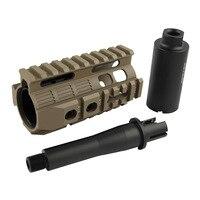 Airsoft AEG M4/M16 용 전술 초소형 CQB 4.0 인치 핸드 가드 레일 시스템 (BK/DE)