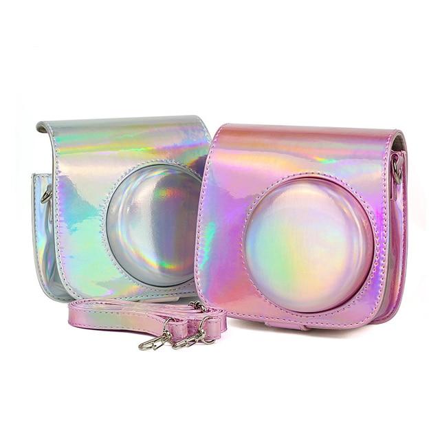 สำหรับ Fuji Fujifilm Instax Mini 9 MINI 8 8 + Protector สำหรับกรณีกระเป๋ากล้องทันทีเลเซอร์ Aurora อุปกรณ์เสริมการถ่ายภาพ