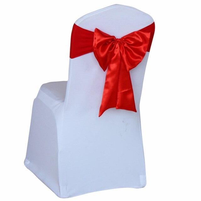 Chaud Vente Elastique Tissu Chaise De Dos Fleur Bowknot Decoration Satin Arc