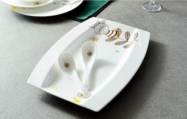 12 pollice, bone china rettangolo piatto da portata, porcellana ...