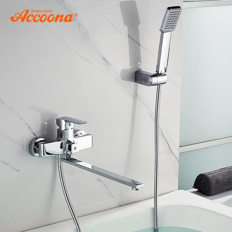 Accoona Bath Bathtub Faucets Brass Faucet Bath Tub Mixer Wall Deck Mounted Tub Bathroom Shower Faucets Bathtub Faucet Set A7155