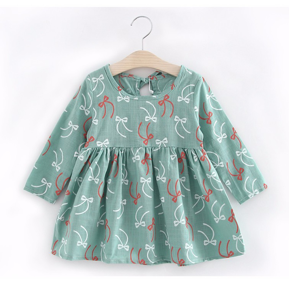 Printed Baby Girls Dress Spring Autumn Long Sleeve Princess Dress Casual Costume Cotton Girls Dresses Kids Clothes Tutu Vestidos