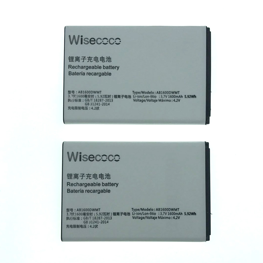 Wisecoco AB1600DWML/AB1600DWMT Battery For PHILIPS S309 Smartphone/Smart Mobile phone +Tracking Number