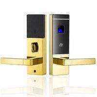 Цинковый сплав безопасности Keyless RFID карты Электрический дверной замок цифровой биометрический замок отпечатков пальцев для офис
