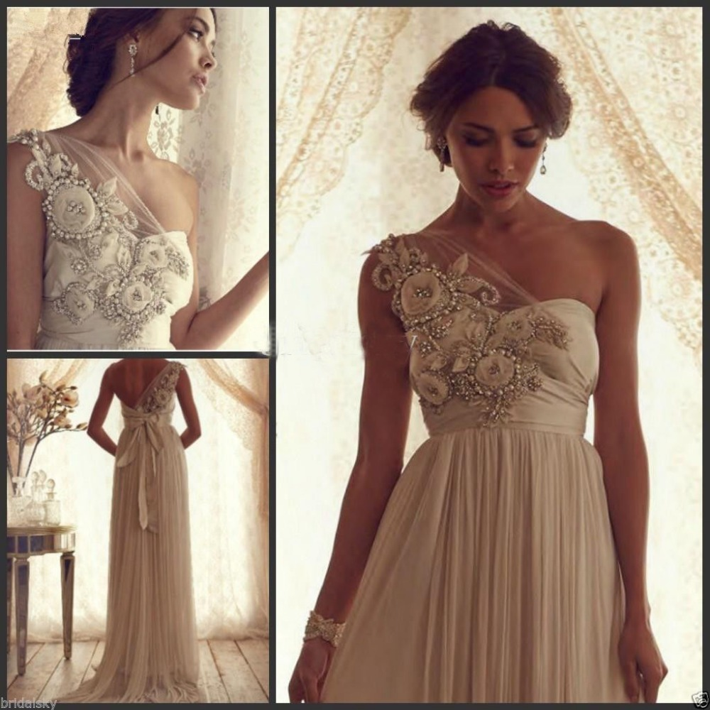 Vintage Wedding Dresses Nyc: Wholesale 2016 New Bride Evening Dress Vintage Shoulder