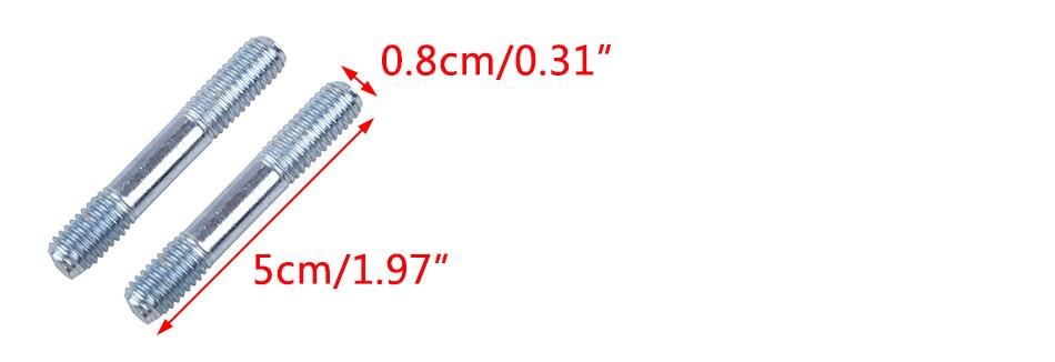 Muffler Bolt Exhaust Studs Kit Fit for Honda GX240 GX270 GX340 GX390 Engines 90047-ZE2-000