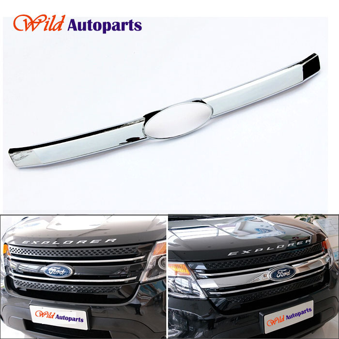 Chrome Front Overlay Grille Grill Cover Bezel Tri...