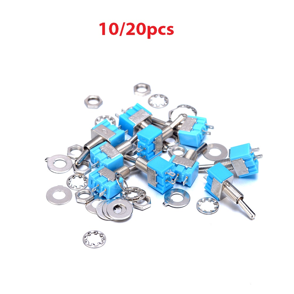 10/20Pcs A Lot MTS-101 Switches 32X13X10mm 2Pin SPST ON-OFF Mini Toggle Switch Installation hole 6mm 6A 125V Used in many Fields 5pcs lot high quality 2 pin snap in on off position snap boat button switch 12v 110v 250v t1405 p0 5