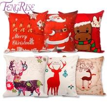 FENGRISE Merry Christmas Decor for Home 2018 Christmas Ornament Christmas 2018 Xmas Decor Pillow Case Party
