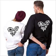 Sugarbaby Trust No One Jumper Long Sleeve Couples Clothing High quality Casual Tops Long Sleeve Jumper Drop ship ladder cutout sleeve jumper