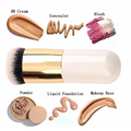 Круглые Плоские Кисти Для Макияжа BB Крем Корректор Пудра Кисти Синтетические Fifber Лица Косметика для макияжа кисти для женщин