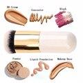 Rodada Plana Pincel de Maquiagem BB Cream Concealer Foundation Pó Pincéis Sintéticos Fifber Rosto pincéis de maquiagem Cosméticos para as mulheres