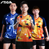 NEW Stiga Table tennis clothes sportswear breathable quick dry short sleeved men ping pong Shirt Badminton Sport Jerseys