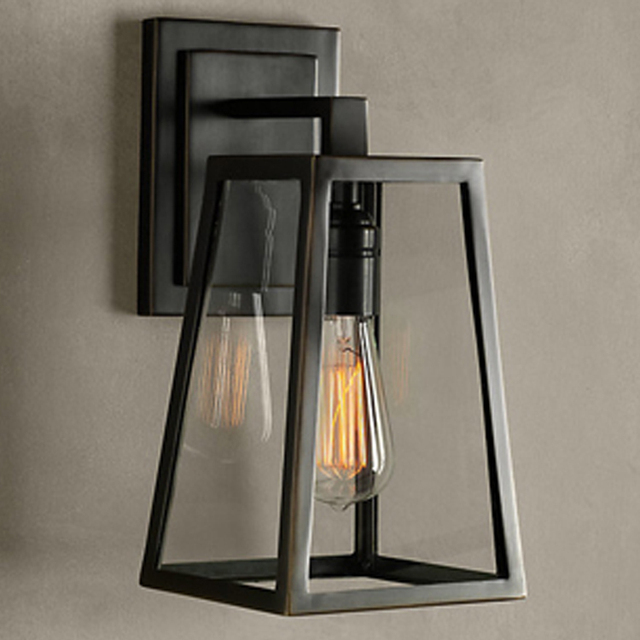 Edison vintage wrought iron wall creative process glass box edison vintage wrought iron wall creative process glass box balcony hallway closet wall lights outdoor lighting mozeypictures Gallery