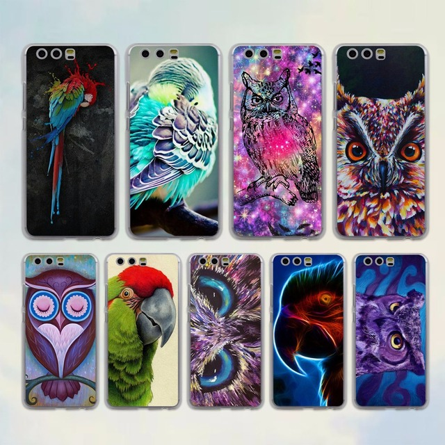 birds macaws purple owl style transparent clear cover case for