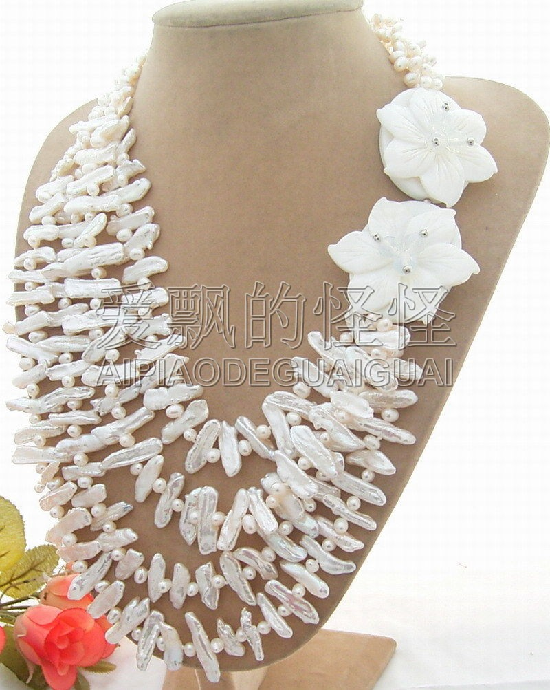 Excellent! 20mm Pearl&Shell Flower Necklace-Cameo Clasp excellent shell home zsh999 page 2