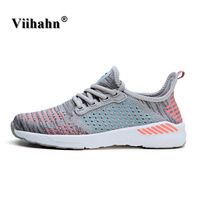 Viihahn Women S Running Shoes Summer Outdoor Sport Athletic Sneakers Women Walking Mesh Flywire Lace Up