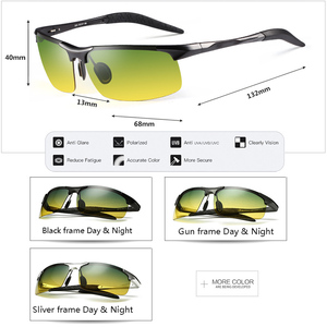 Image 3 - Unisex polarized sunglasses Men Driving Day Night Glasses Male Anti glare UV400 Eyewear Women Driver Glasses gafas oculos de sol
