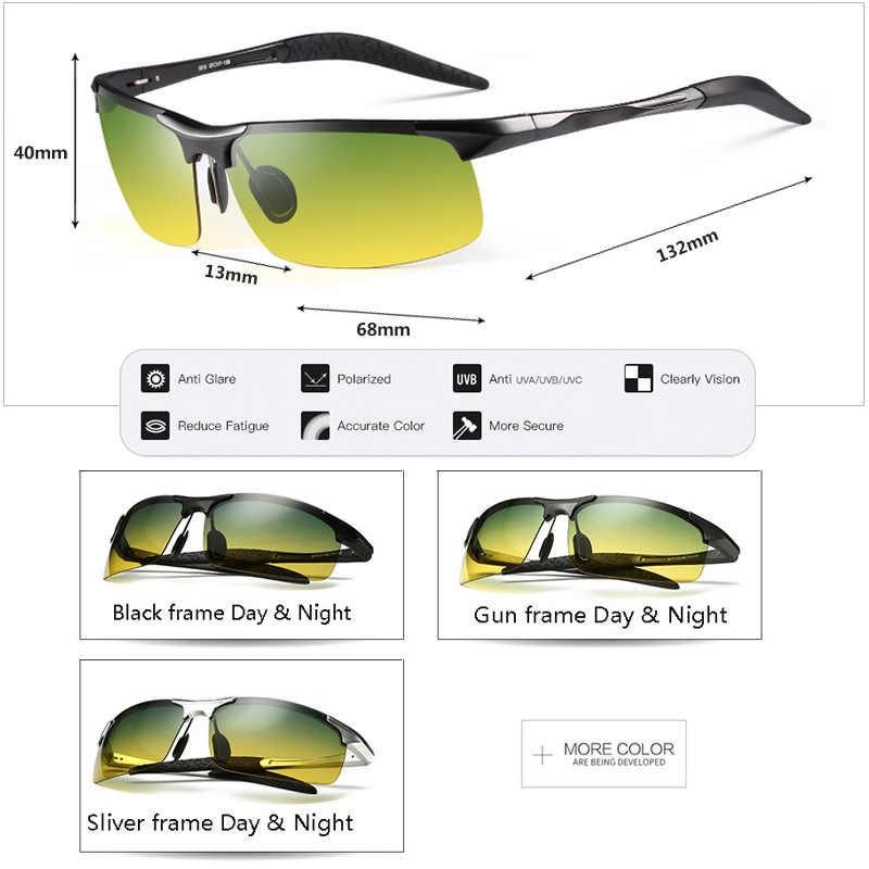 c9eb79cf44 ... Unisex polarized sunglasses Men Driving Day Night Glasses Male Anti- glare UV400 Eyewear Women Driver ...