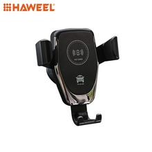HAWEEL Car Air Outlet Bracket Wireless Charger Qi Standard Fast Charging Vent Mount