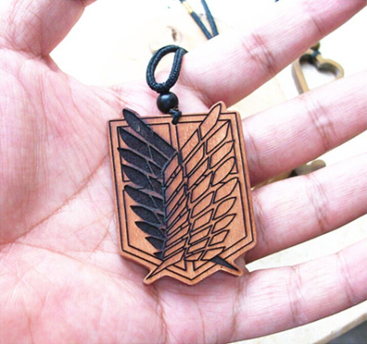 Attack on Titan ebony pendant necklace Animation around