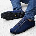 Nubuck Leather Men Shoes Spring Male Casual Shoes New 2015 Fashion Leather Shoes Loafers Men's shoes Flats zapatillas