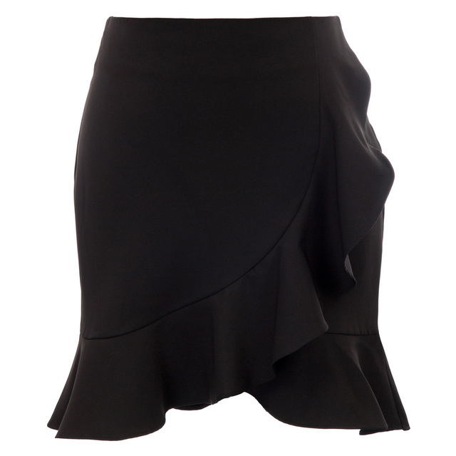 elegant Women Gingham skirts summer retro office work ladies party club Print Ruffle Decorated A-Line Mini Skirt faldas mujer