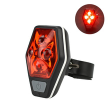 Multifunctional night riding bicycle taillights super bright tail lights warning