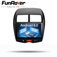 Funrover 9″ 2 din Car dvd Multimedia car radio Android 8.0 for Mitsubishi ASX 2010-2017 car gps navigation Stereo tape recorder