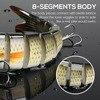 VTAVTA 8 Segment 10/14cm Sinking Wobbler Fishing Lures 3