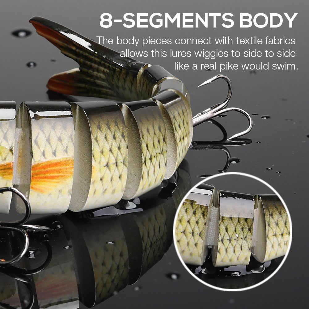 Vtavta 14 センチメートル 23 グラムシンキングwobblersルアー接合クランクベイトのスイムベイト 8 セグメントハード人工餌タックルルアー