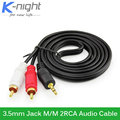 3.5mm Jack Male to Male 2RCA Audio Cable  Headphone AUX Jack Splitter for Phone TV Speakers