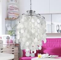 Sea rock shells rice white shell chandelier Japanese modern minimalist creative personality fashion FG262