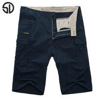 Homem verão plus size 44 tamanho sólidos mid cintura elástica Bolsos retos Na Altura Do Joelho calções masculinos dos homens capris de algodão de grandes dimensões calções