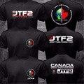 Nova Canadá Elite Força de Operações Especiais JTF2 Joint Task Force 2 camisa do logotipo T 2 Lateral Preto Camiseta de Algodão de Manga Curta ONeck Tee