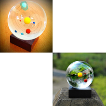 Miniature Solar System Model Crystal Ball Laser Engraved Planet Ball Gifts 3style Globus Terraqueus crystal ball Christmas decor