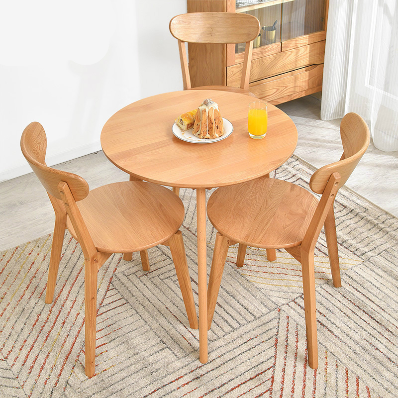 Household Wooden Table and Chair Set Simple and Modern Small Dining Table Multifunction Stable Round Table Leisure Furniture Set long shape american country design wooden philippine dining table set