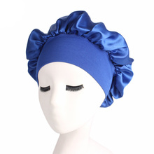 Women Elastic Hair Care Sleeping Hat Nig