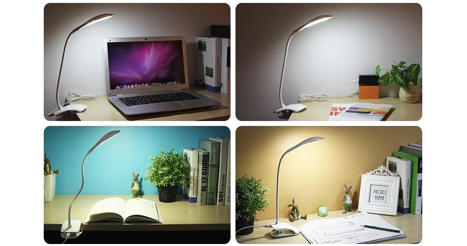 Lámpara de mesa LED con soporte, lámpara led escritorio con batería, USB recargable, lámpara ...