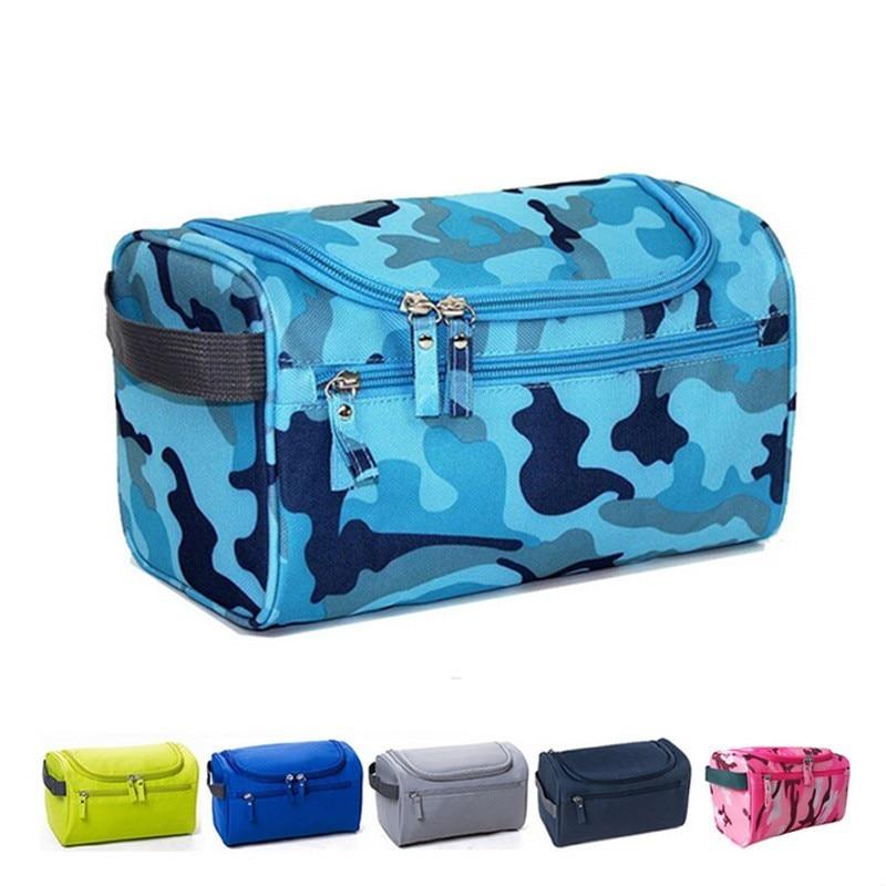 Fashion Waterproof Nylon Men Hanging Makeup Bag Travel Organizer Cosmetic Bag For Women Large Necessaries Toiletry