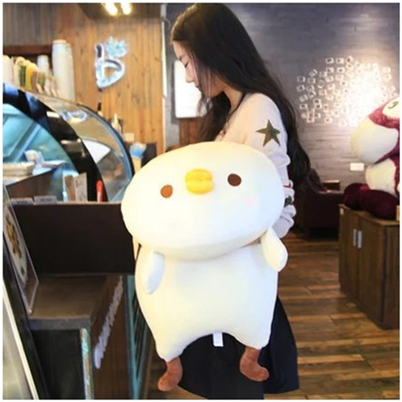 60CM/90CM Soft Yellow and White Lovely Chick Stuffed Animal Cloth doll Chicken Cute Japanese Chick Plush Toy Pillow santa clause figure model lovely plush doll soft cute stuffed toy 11 8 inch