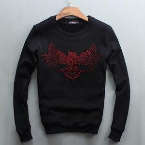 Image 2 - גברים היפ הופ חולצות סוודרים נים יהלומי עיצוב 2019 חורף מזדמן רגיל כותנה עבה סווטשירט