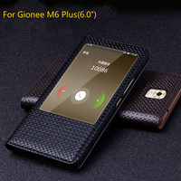 Luxury Original Brand Genuine Crocodile Leather Phone Cases For Gionee M6 Plus Fashion Phone Bags For GioNee M6 Plus Open Window