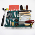 69 stks/set Professionele Lederen Craft Gereedschap Hand Naaien Stiksels Punch Carving Werk Zadel Groover Kit DIY Praktische Hot