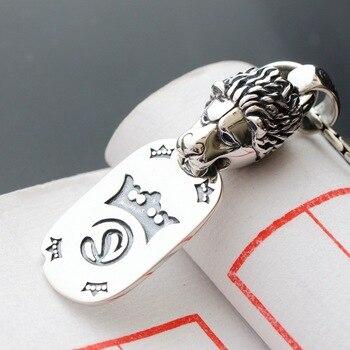 925 sterling silver pendant restoring ancient ways The head silver pendant Men and women punk silver pendant